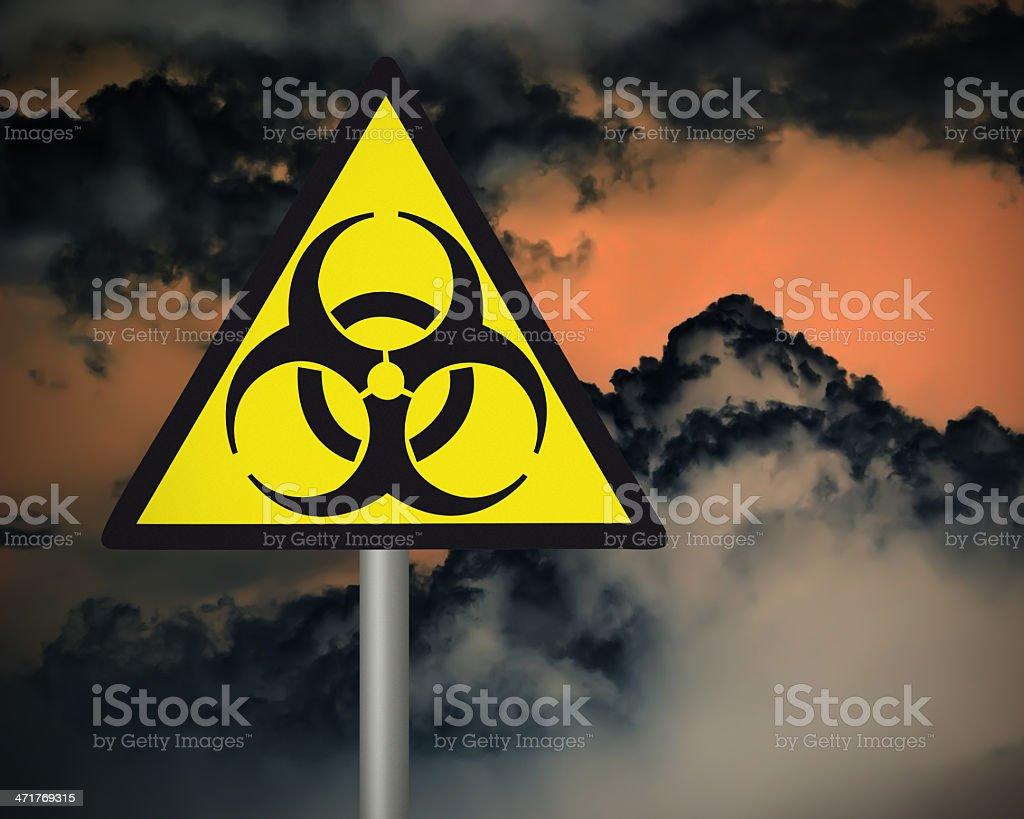 Biohazard warning sign. royalty-free stock photo