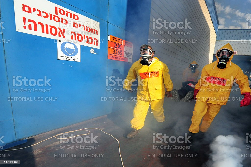 Biological and Chemical warfare stock photo