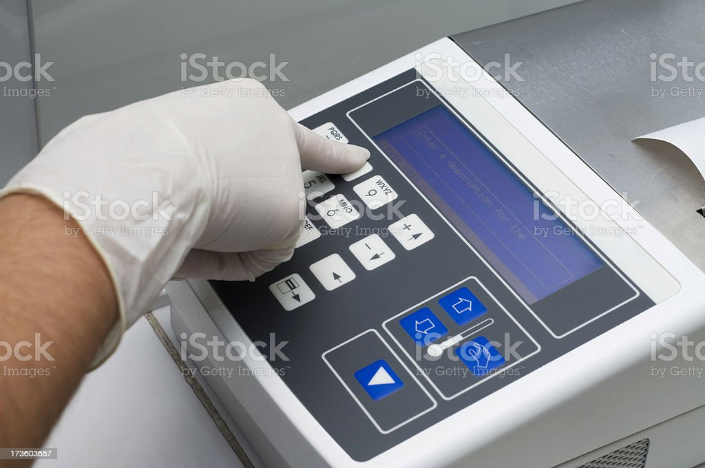 Biological Freezer Control Unit stock photo