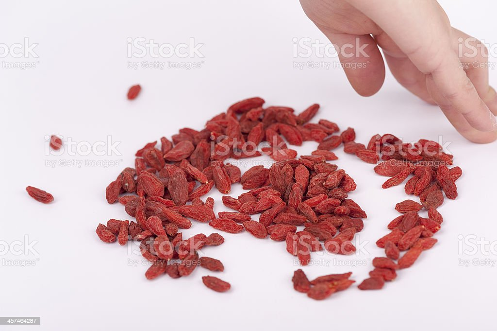 biological goji berries stock photo