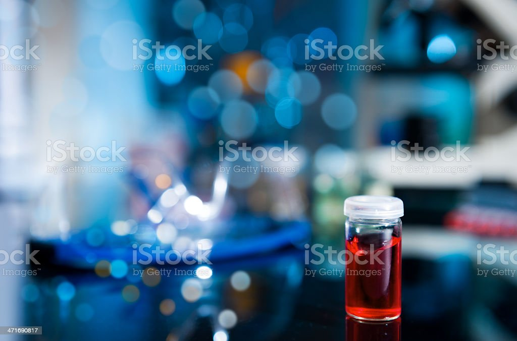 Biological or chemical sample stock photo
