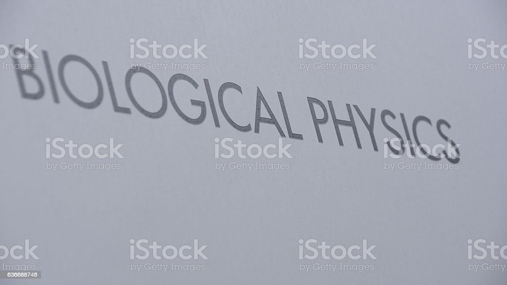 biological physics sign stock photo