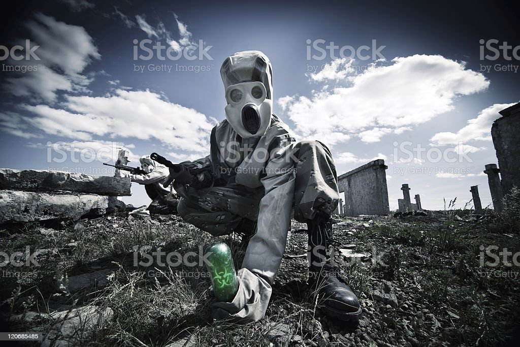biological  pollution stock photo