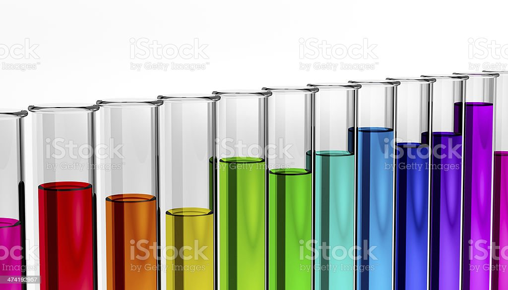 biology chemicals industry solutions test tube stock photo