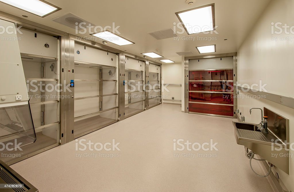 Biology Lab with Temperature and Light controls stock photo