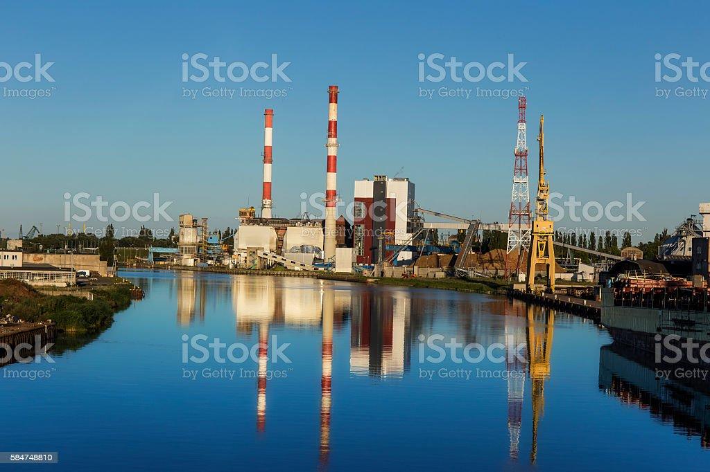 Biomass power station, Szczecin, Poland stock photo