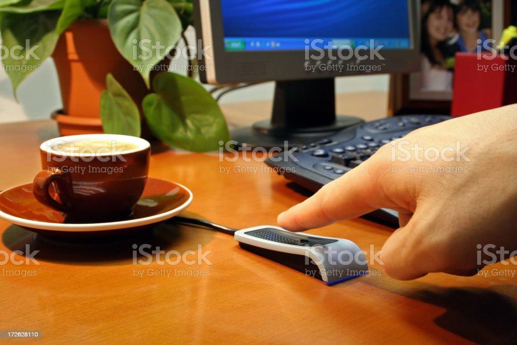 Biometric Fingerprint Reader royalty-free stock photo