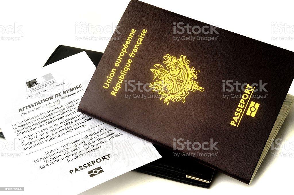 biometric passport stock photo