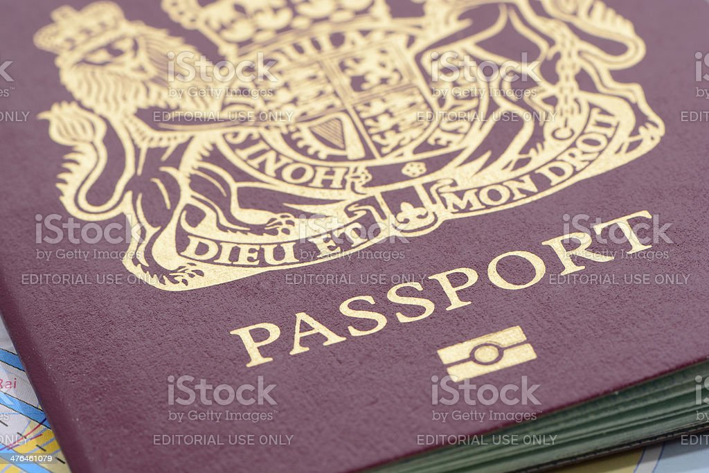 Biometric United Kingdom Passport stock photo