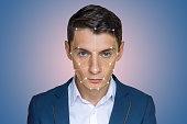 Biometric verification man face recognition