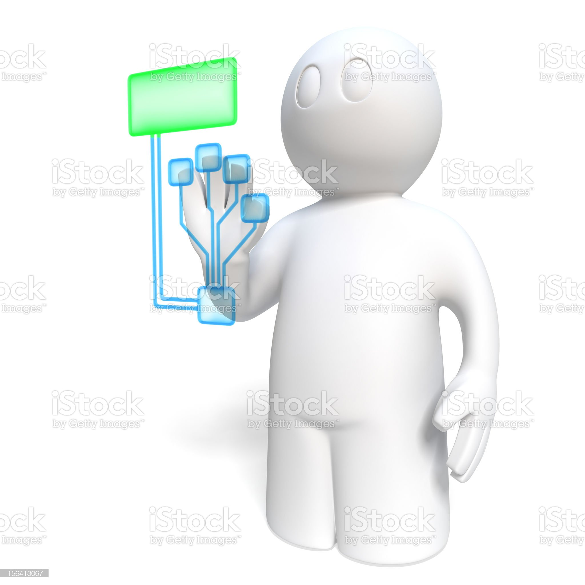 biometrical identification royalty-free stock photo