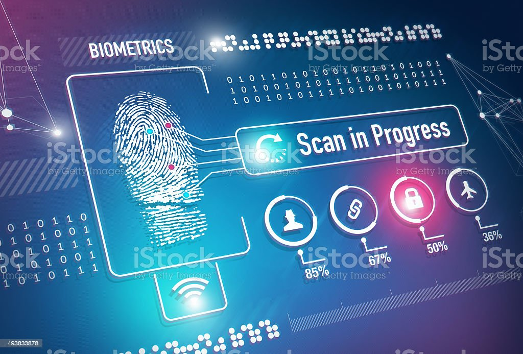 Biometrics Fingerprint Scan stock photo