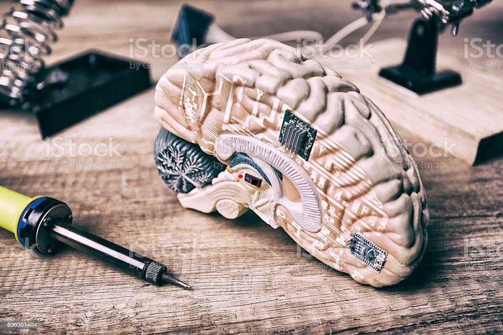 Bionic brain stock photo