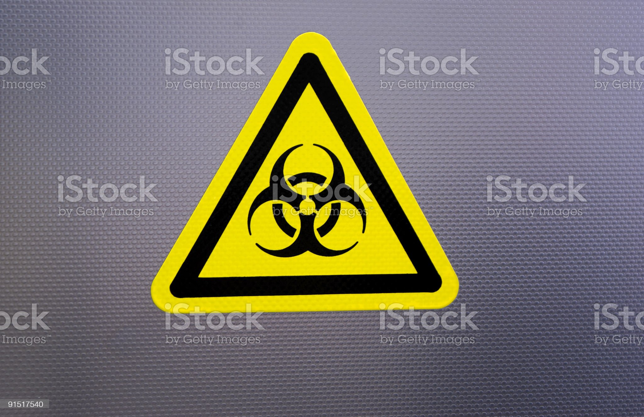 Biorisk Sign in metal surface royalty-free stock photo