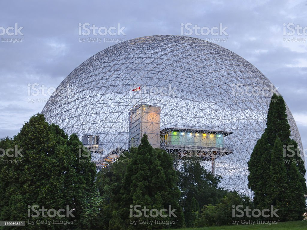 Biosphere Structure, Montreal, Quebec, Canada, Museum, The Future royalty-free stock photo