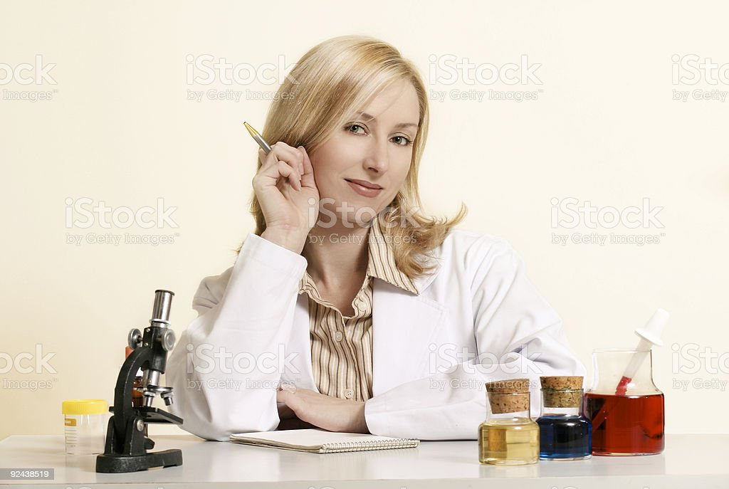 Biotechnologist royalty-free stock photo