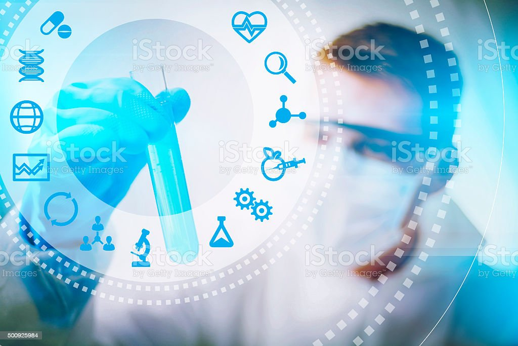 Biotechnology concept stock photo