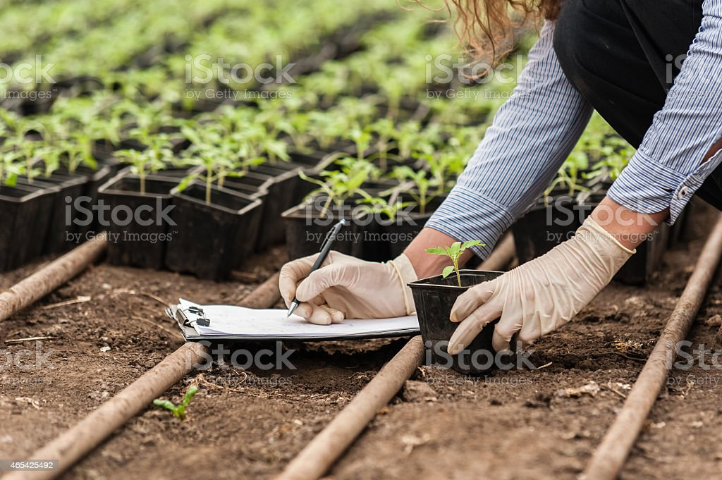 Biotechnology woman engineer stock photo