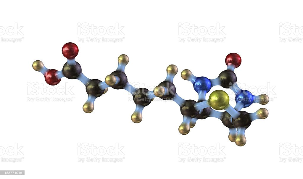 Biotin - Vitamin B7 royalty-free stock photo