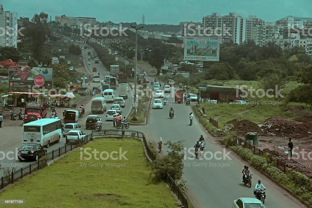 Bipass road Mumbai-Banglore National Highway going towards Katra stock photo