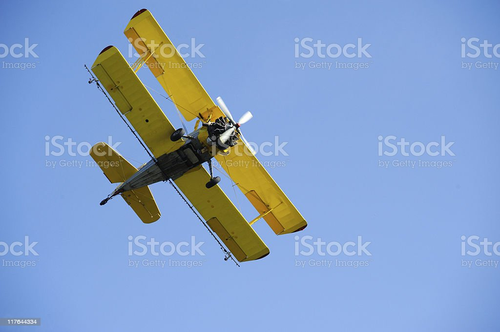 biplane royalty-free stock photo