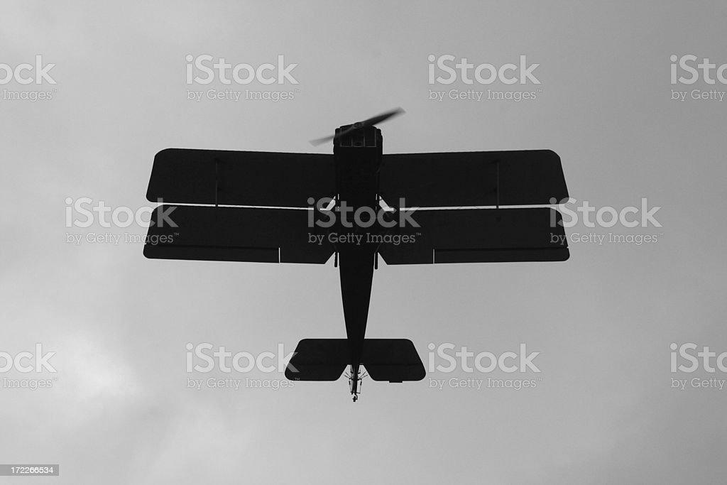 WWI Biplane royalty-free stock photo
