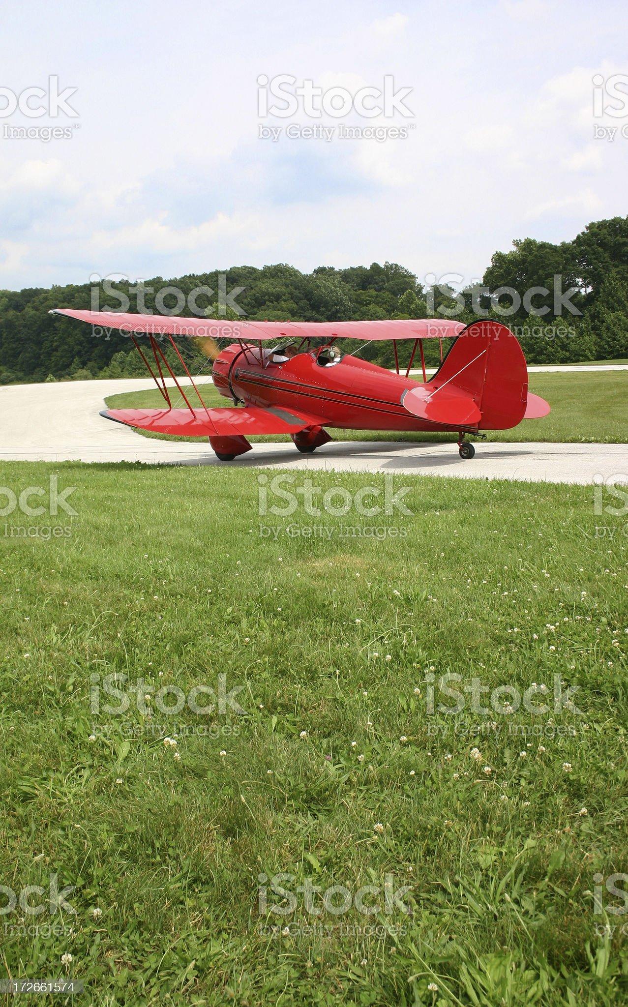 Biplane royalty-free stock photo