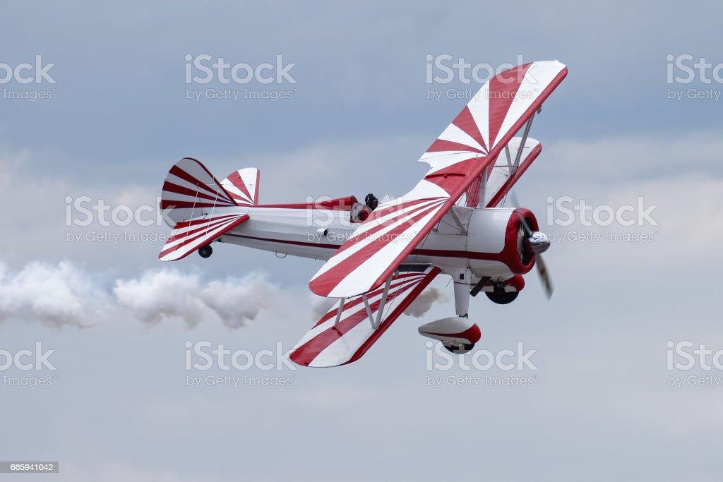 Bi-Plane Stunt Aircraft stock photo