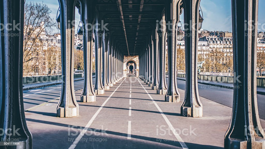 Bir Hakeim Bridge stock photo