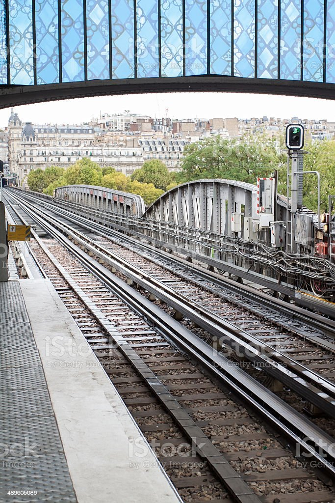 Bir Hakeim Metro Subway Station stock photo