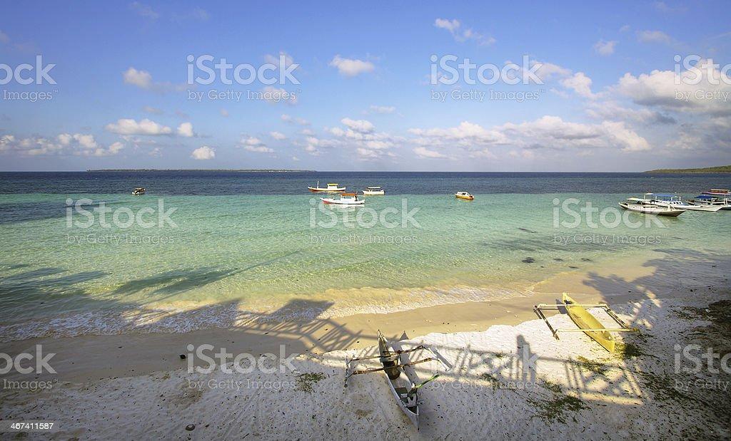 Bira beach landscape stock photo