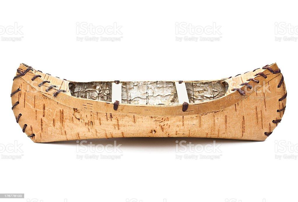 Birch Bark Canoe royalty-free stock photo