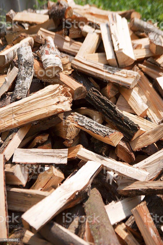 birch firewood royalty-free stock photo