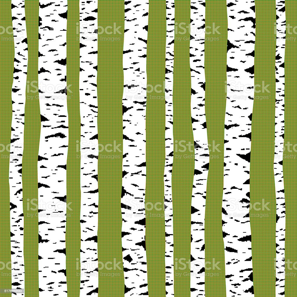 Birch seamless pattern. stock photo