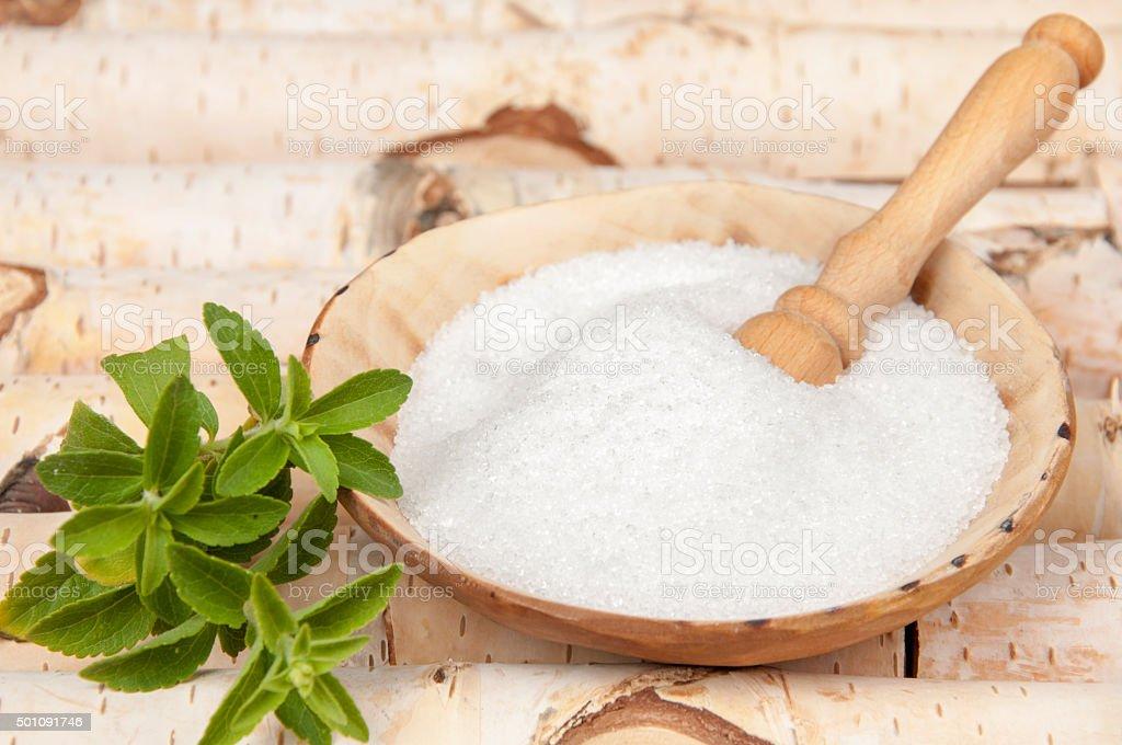 birch sugar stock photo