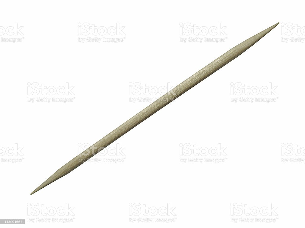 Birch Toothpick royalty-free stock photo