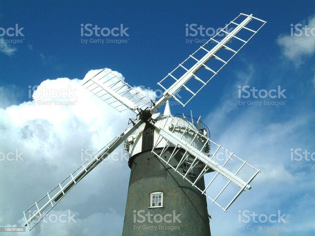 Bircham Windmill stock photo