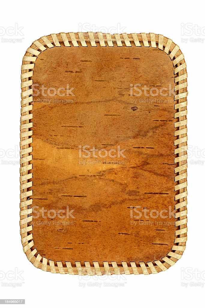 Birch-bark box royalty-free stock photo