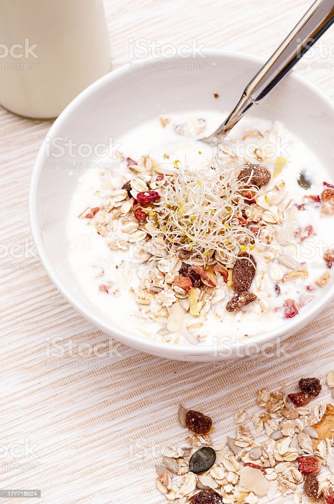 Bircher muesli stock photo