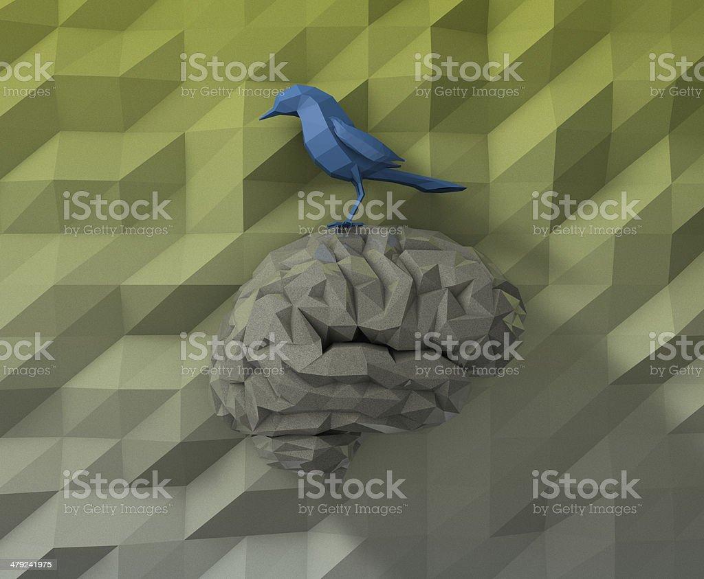 3D Bird Brain stock photo