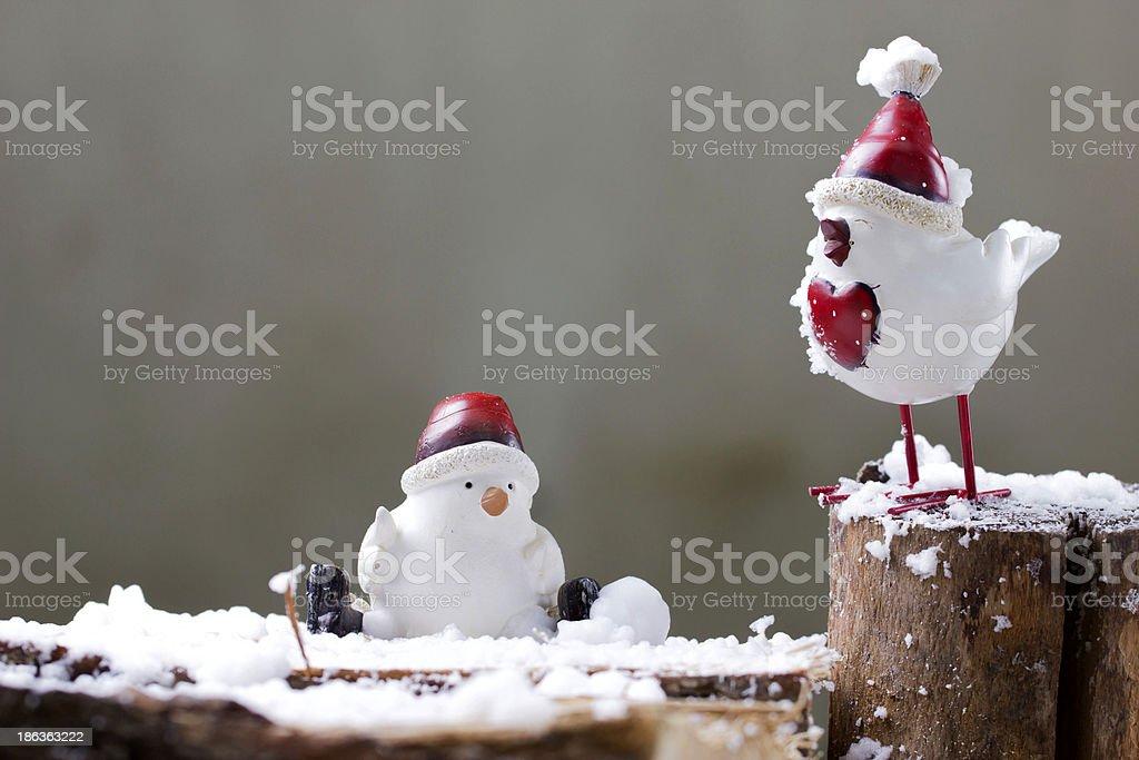 Bird, christmas decor stock photo