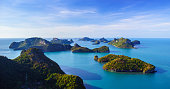 Bird eye view of Angthong national marine park, Thailand