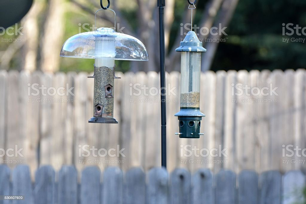 Bird Feeders stock photo