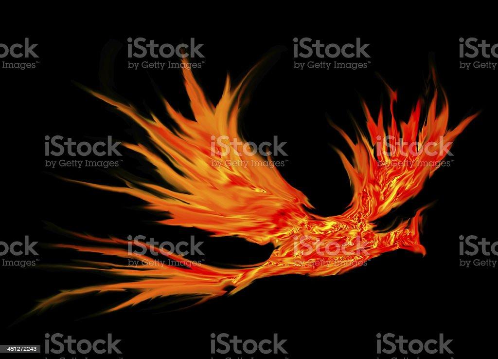 bird fire abstract stock photo