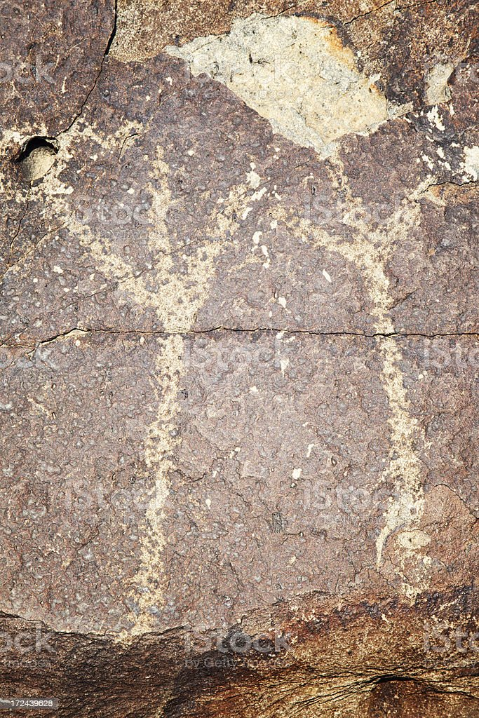Bird Footprints Pictograph - Three Rivers Petroglyph Site royalty-free stock photo