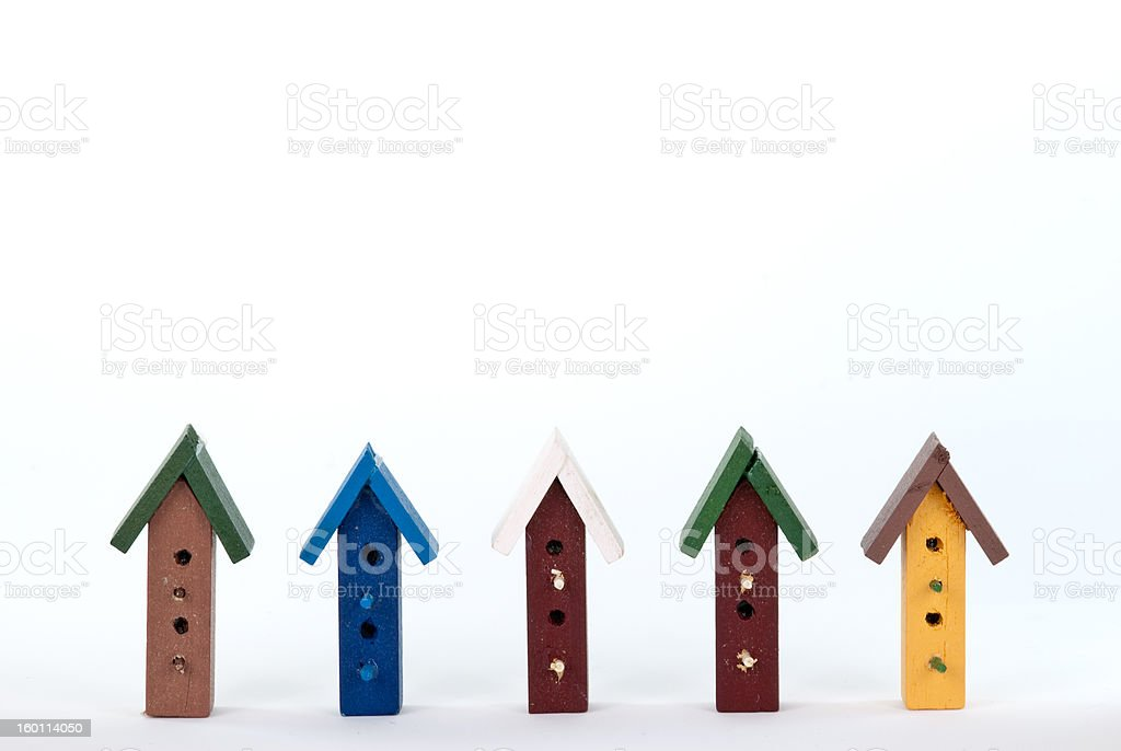 Bird House Frame stock photo