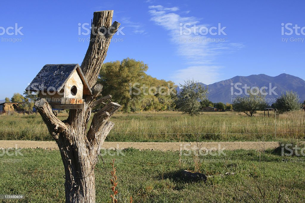 Bird House in the Country royalty-free stock photo