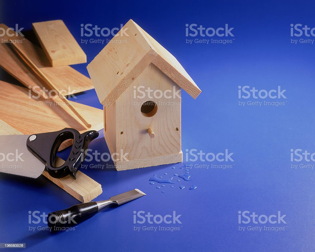 Bird House Project stock photo