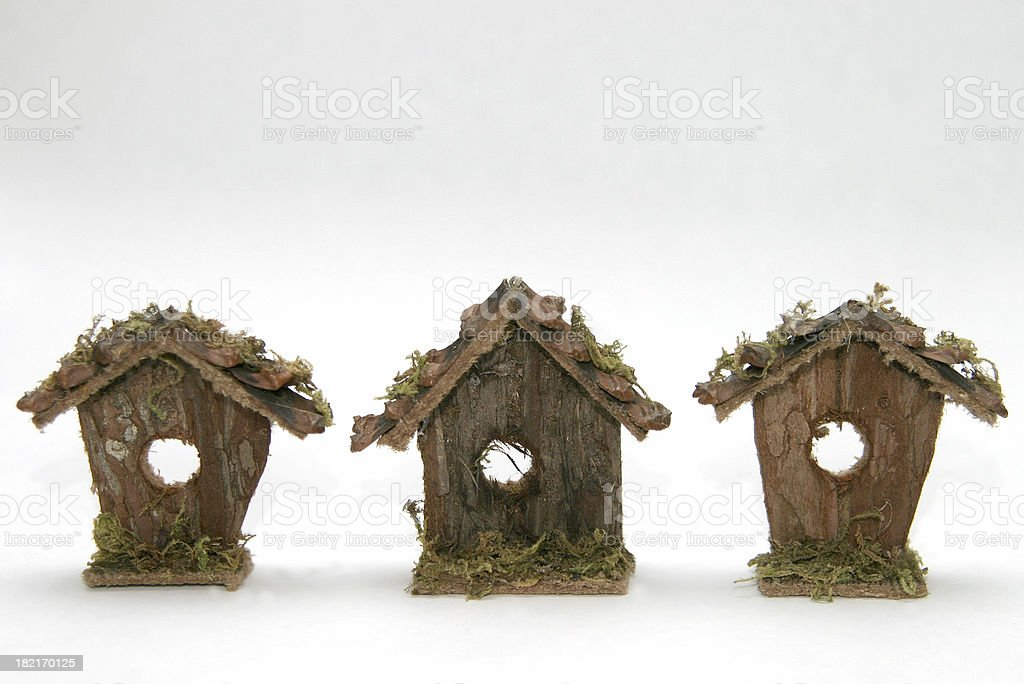 bird house row royalty-free stock photo