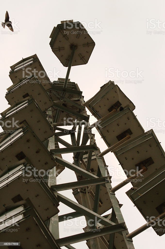 bird house tower stock photo